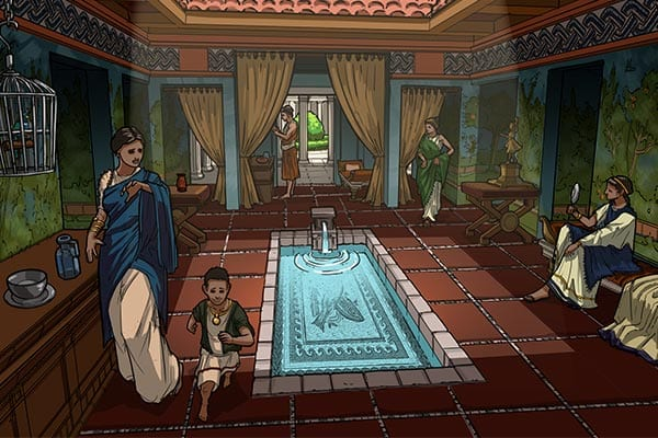excavate rome house in game-based learning