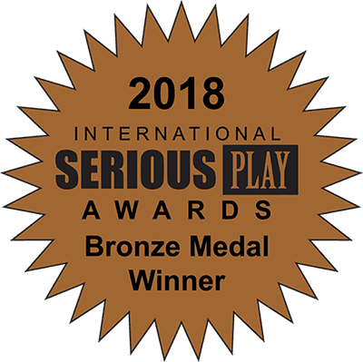 Serious Play award for Excavate! social studies game-based learning tool