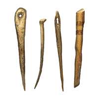 Needles used in MesoAmerica, dig it up in Excavate!