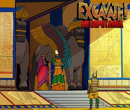 History scene from Excavate! Mesopotamia social studies game
