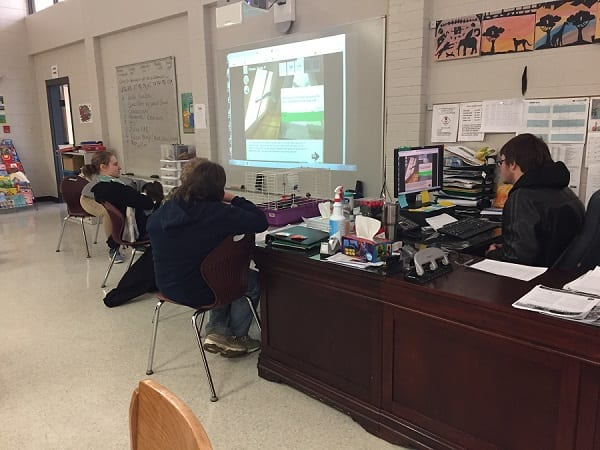 Teacher uses Excavate! social studies games with special education students