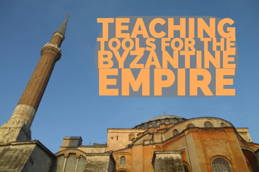 A list of teaching tools for putting together lessons on the Byzantine Empire