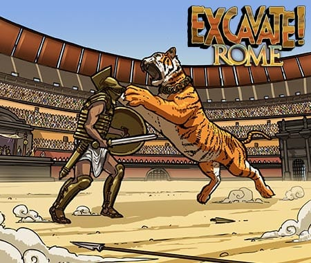 Excavate! Rome, one of Dig-It's social studies archaeology games