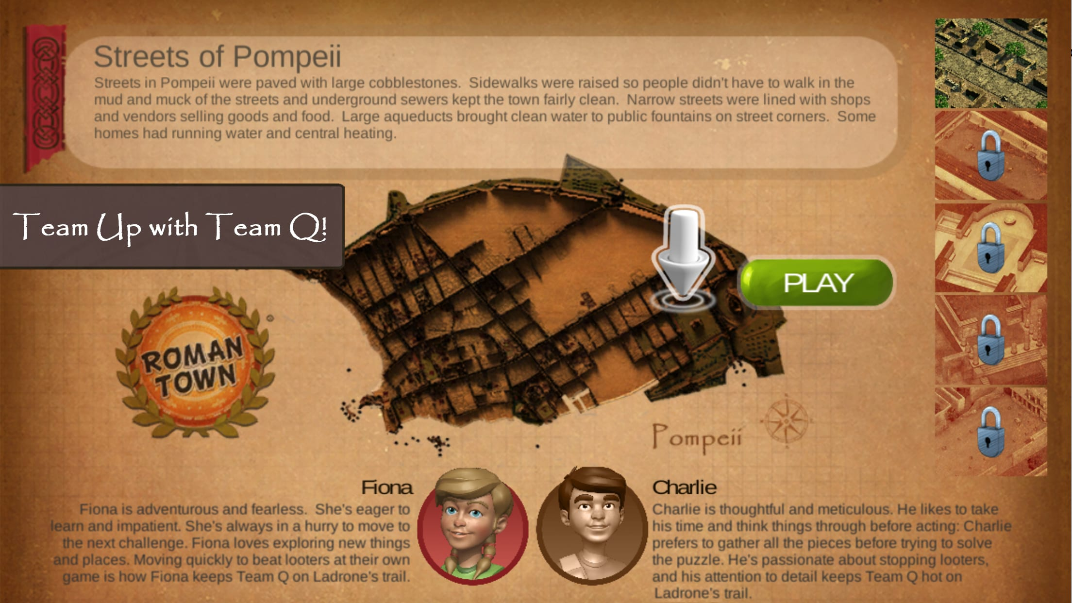 Roman Town 2- a history game for kids and students