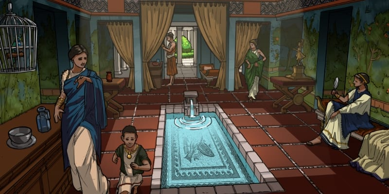 Excavate! games Rome screenshot at baths