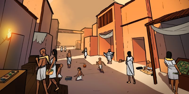 Excavate! games Egypt city screenshot