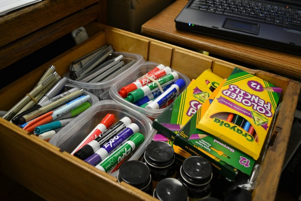 Gifts for teachers- school supplies is a good idea