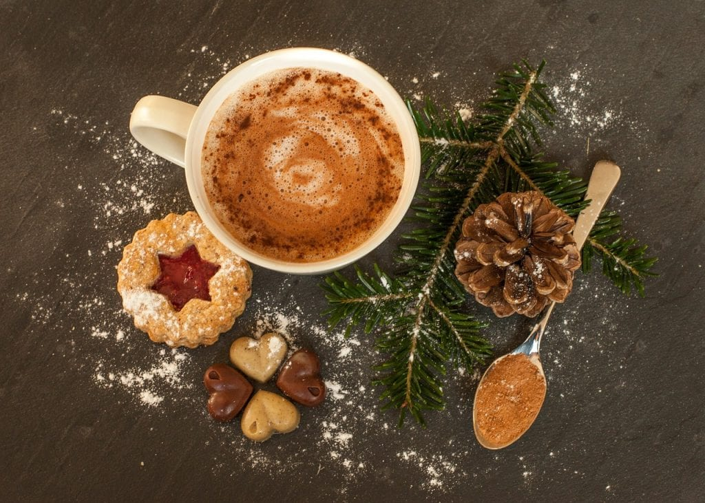 Hot chocolate and winter stem